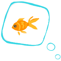 Thought bubble of a fish