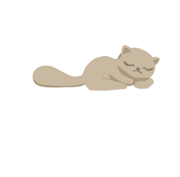Violet the cat sleeping
