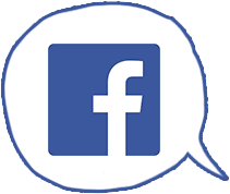 Speech bubble with social media Facebook icon