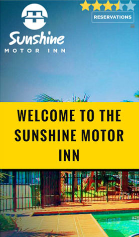 Sunshine Motor Inn on phone screen