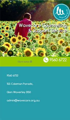 Wavecare on phone screen