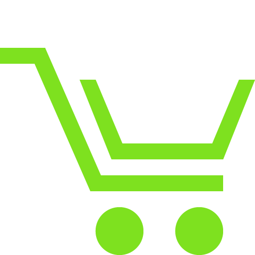 Shopping cart icon for online purchasing